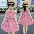 吊帶裙 女童裙子夏裝薄款洋氣網紅新款韓版兒童純棉小女孩格子洋裝