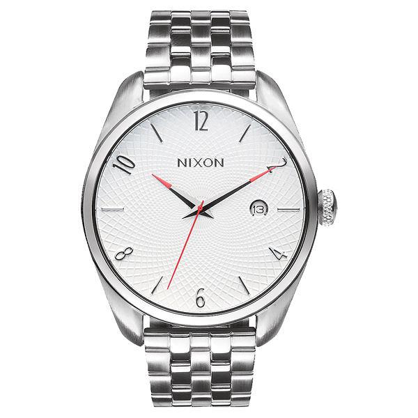 NIXON THE BULLET CHRONO先鋒網紋腕錶-白x銀