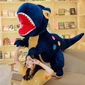 抱枕 霸王龍公仔恐龍毛絨玩具睡覺抱枕布娃娃可愛玩偶男孩女生生日禮物·夏茉生活
