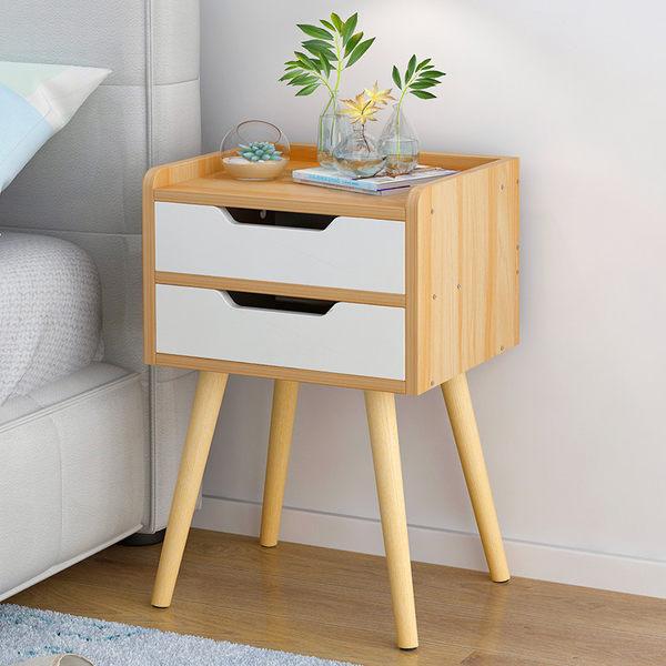 床頭櫃 床頭櫃 簡約現代床頭收納櫃臥室儲物櫃簡易床邊小櫃子經濟型邊櫃 【美物居家館】