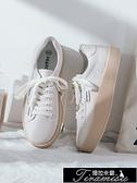 小白鞋女百搭休閑春季新款厚底增高板鞋春款女鞋潮鞋 快速出貨