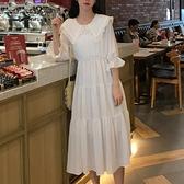 洋裝 娃娃領連衣裙長裙夏學生森系智熏eggsshop喪系裙子法式少女新仙氣