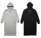 FILA 帽T 連身裙 黑/灰 基本款 小LOGO 連帽 衛衣 長袖 上衣 兩色 (布魯克林) 5DRV1423-