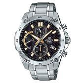 【僾瑪精品】CASIO 卡西歐 EDIFICE 極速時尚碳纖維扇形不鏽鋼腕錶-金/EFR-557CD-1A9