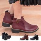 女款 甜美復古 彈性套腳式平底短靴 馬靴...