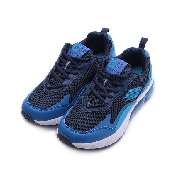 LOTTO 放膽玩色 FLOAT氣墊跑鞋 藍黑 LT0AKR2206 大童鞋