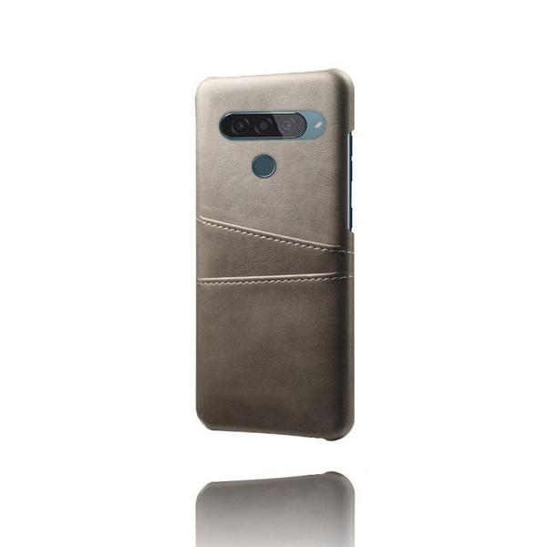 手機殼 適用LG G8S手機殼插卡皮質lgg8s商務帶卡槽防摔保護套復古手機套