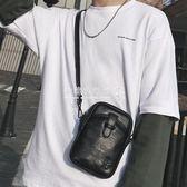 斜背包  時尚青年小包戶外運動騎行背包潮流皮質男士單肩包手機包 『歐韓流行館』