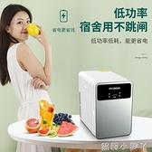 韓國現代車載小冰箱迷你放護膚品家用收納箱單人辦公室宿舍冷藏箱 NMS蘿莉新品