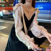 孕婦裝洋裝 減齡孕婦秋裝連身裙時尚款潮辣媽個性洋氣2021早秋季外出網紅 coco