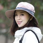 遮陽帽戶外防曬帽女夏百搭太陽帽涼帽防紫外線出遊遮臉遮陽帽