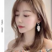 耳環S925銀針韓國度假網紅超仙氣質耳墜小眾高級感耳環女耳釘長款耳飾 衣間迷你屋