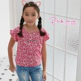 PINKNANA童裝-大童獨家印花短版上衣38169