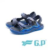 【G.P】磁扣排水休閒舒適海灘涼拖二用鞋 男女共用款 藍(另有紅/綠)