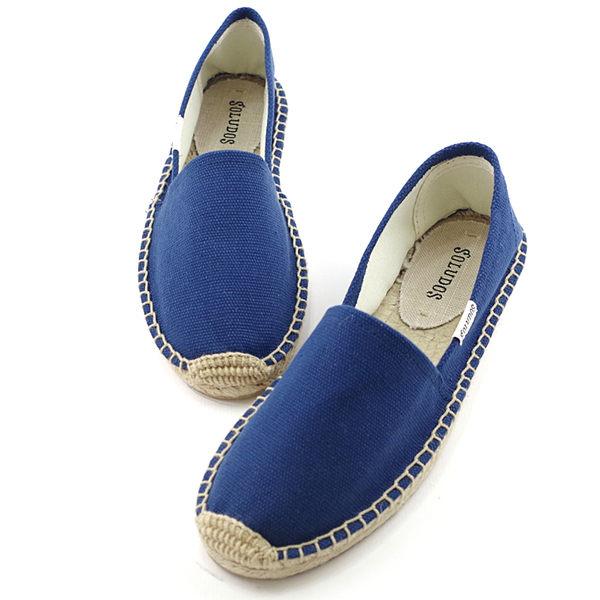 美國正品 Soludos 基本素面款草編懶人鞋-藍色【現貨在台】