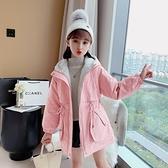 韓版外套中大童上衣 洋氣風衣加絨棉服兒童夾克外套 潮流女孩棉衣女童外套 羽絨外套秋冬棉襖