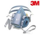 【醫碩科技】3M 7502 舒適矽膠雙罐式半面罩防毒面具 可搭6000系列濾罐