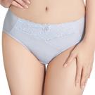 思薇爾-舒棉Bra系列M-XXL蕾絲中腰三角內褲(白霜灰)