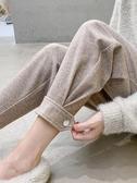 哈倫褲 加絨毛呢哈倫褲女秋冬新款寬松休閒老爹小腳蘿卜網紅奶奶褲子 新年禮物