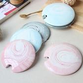 大理石紋陶瓷馬克杯蓋子創意泥彩開孔咖啡杯蓋圓形水杯蓋紅茶杯蓋 四季生活