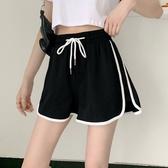 運動短褲 夏季2020新款韓版外搭休閒運動褲百搭學生闊腿熱褲高腰直筒短褲女 新品