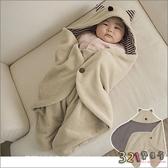 嬰兒包巾-造型睡袋多功能保暖蓋毯抱毯小魔怪造型-321寶貝屋