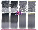 得來福,W47髮片120g奶奶灰無痕一片式大波浪捲髮直髮接髮片,售價268元