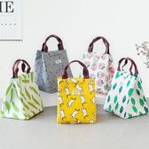 保溫袋 韓國飯盒袋保溫袋便當袋手提包帶飯的袋手拎袋帆布袋學生拎袋午餐   麻吉鋪