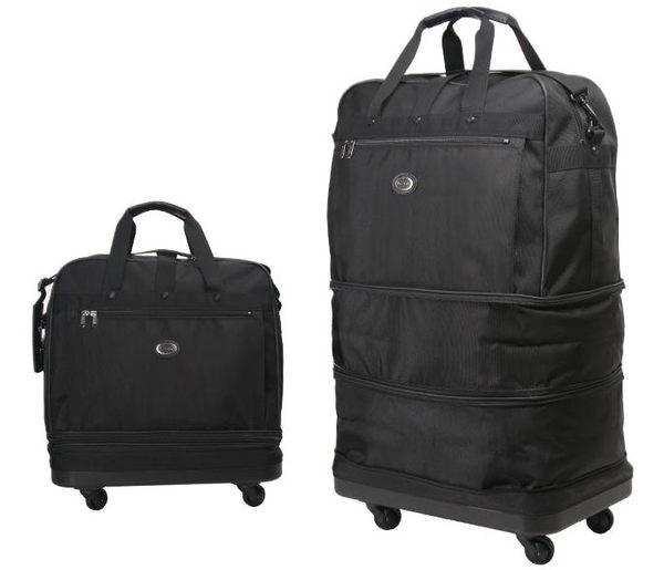 Backbager 背包族【YESON永生】台灣製造 可摺疊式三層輪袋/ 旅行袋-大(紅色/黑色)
