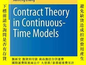 二手書博民逛書店Contract罕見Theory In Continuous-time ModelsY256260 Jak?a