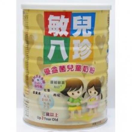 【121婦嬰用品館】敏兒八珍優益菌兒童奶粉1600g 6罐超值組
