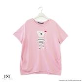 【INI】注目吸睛、好可愛小熊熊上衣.粉色