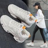 韓版網面運動透氣女鞋百搭鞋款春季厚底老爹鞋 可然精品