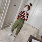 全館83折 童裝女童秋裝2018秋季新款兒童韓版洋氣套裝中大童時髦時尚兩件套