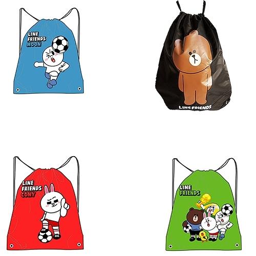 【LINE】足球系列/環保購物袋/束口後背包/束口帶/束口袋/隨身購物袋(4款可選)