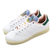 adidas 休閒鞋 Stan Smith W 白 彩色 女鞋 皮革 膠底設計 運動鞋【ACS】 FZ3631