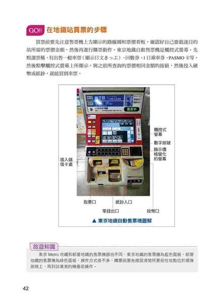 (二手書)自助遊一本就GO!東京地鐵遊最新情報書:9大地鐵導航路線+11條路線+30個..