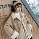冬季外套女新款羊羔毛短款棉衣棉服加厚寬鬆...