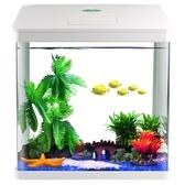 小型金魚缸家用小魚缸迷你水族箱桌面生態魚缸免換水懶人魚缸造景JD CY潮流