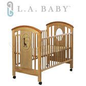 L.A. Baby 加州貝比 長頸鹿嬰兒大床/搖擺床/原木床/童床-原木色(不附床墊)