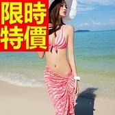 泳衣(三件式)-比基尼-音樂祭衝浪溫泉必備品味簡約3色54g40[時尚巴黎]