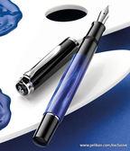 Pelikan classic 2016 M205 Blue-marbled寶藍桿大理石紋鋼筆