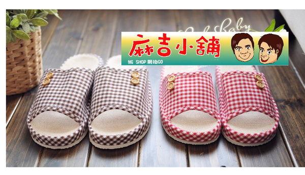 居家韓國拖鞋 夏季亞麻拖鞋情侶拖鞋家居拖鞋夏季