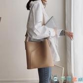 百搭大包復古斜背包大容量水桶包包女韓版子母側背包【千尋之旅】