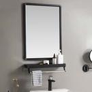 浴鏡 北歐衛生間浴室鏡子梳妝鏡化妝鏡壁掛鏡自粘免孔鏡子浴室衛浴鏡子
