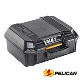 【南紡購物中心】PELICAN V100 Vault Small Pistol Case 含泡棉(黑)