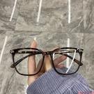 眼鏡網紅素顏眼鏡女圓臉個性時尚方框大框透明框防輻射平光眼鏡 芊墨