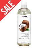 即期【NOW】椰子基底油(16oz/473ml) Liquid Coconut Oil 效期2020/12
