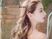 髮箍 現貨 韓國甜美女神款立體金屬感蝴蝶葉子水鑽後掛細髮箍(2色) S7687 批發價 Danica 韓系飾品