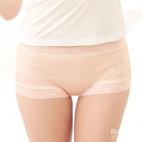 【岱妮蠶絲】AA2309E-L純蠶絲42針70G古典蕾絲中高腰平口內褲(中膚/粉膚)